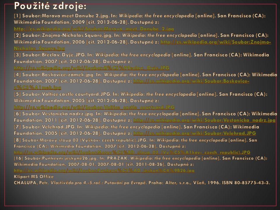 Použité zdroje: [1] Soubor:Morava meet Danube 2. jpg